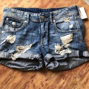 H&M & Denim Distressed Shorts